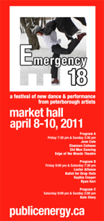 Emergency #18 Festival of New Dance and Performance by Peterborough-area Artists