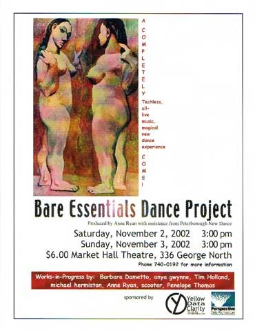 Bare Essentials Dance Project with Ann Ryan