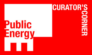 Public Energy logo with the words Curator's Corner next to it.