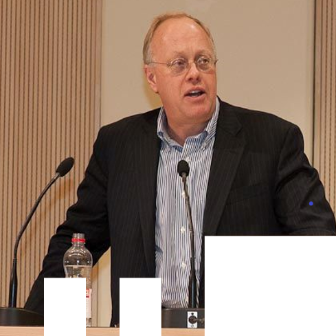 Writing as Resistance: a public talk by Chris Hedges  in the photo.