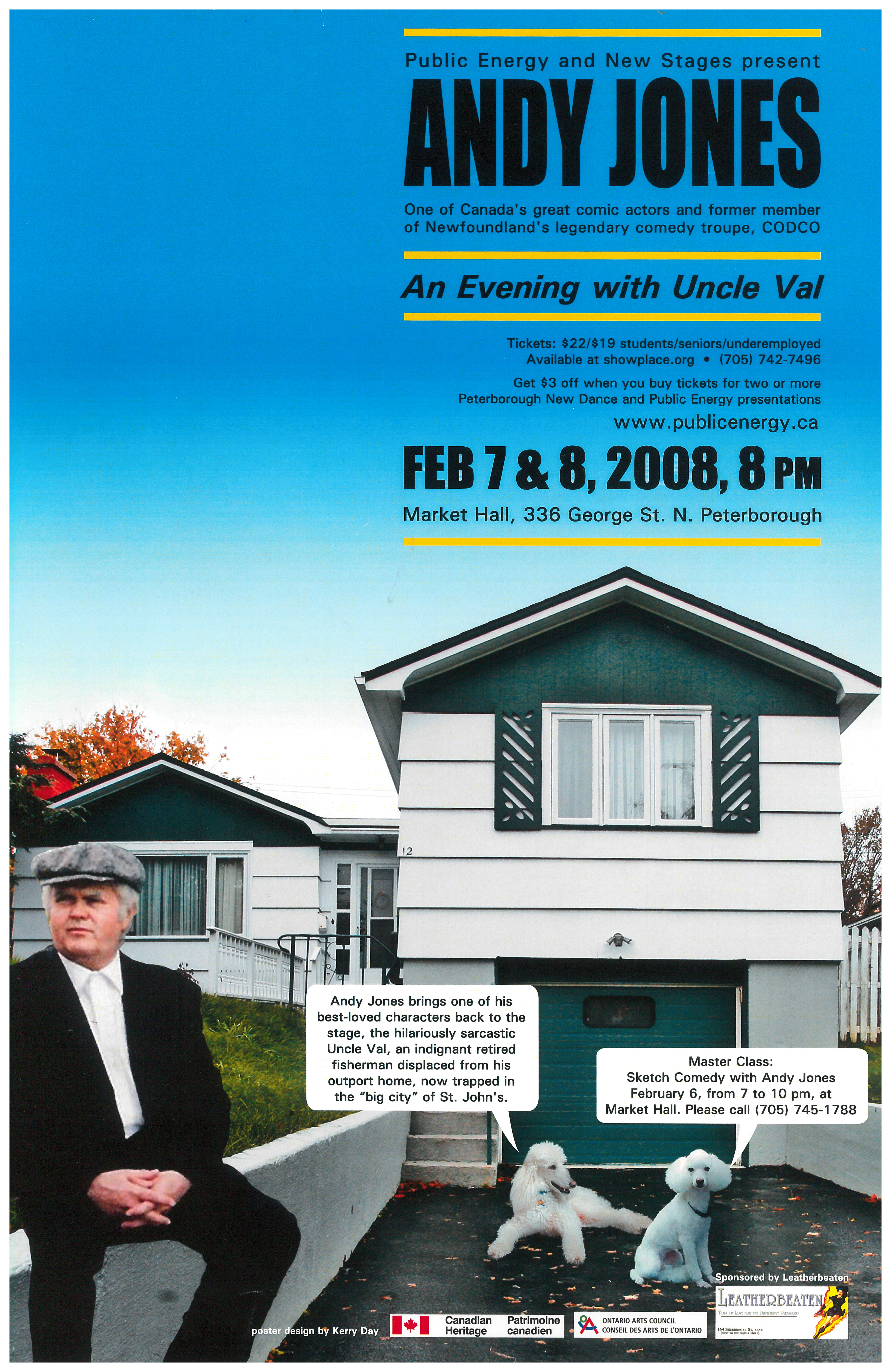Poster for Andy Jones in A Evening With Uncles Vai