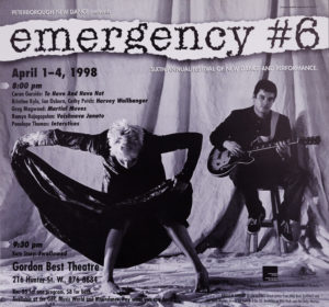 Poster for Emergency 6 showing Kate Story and Patrick Walsh