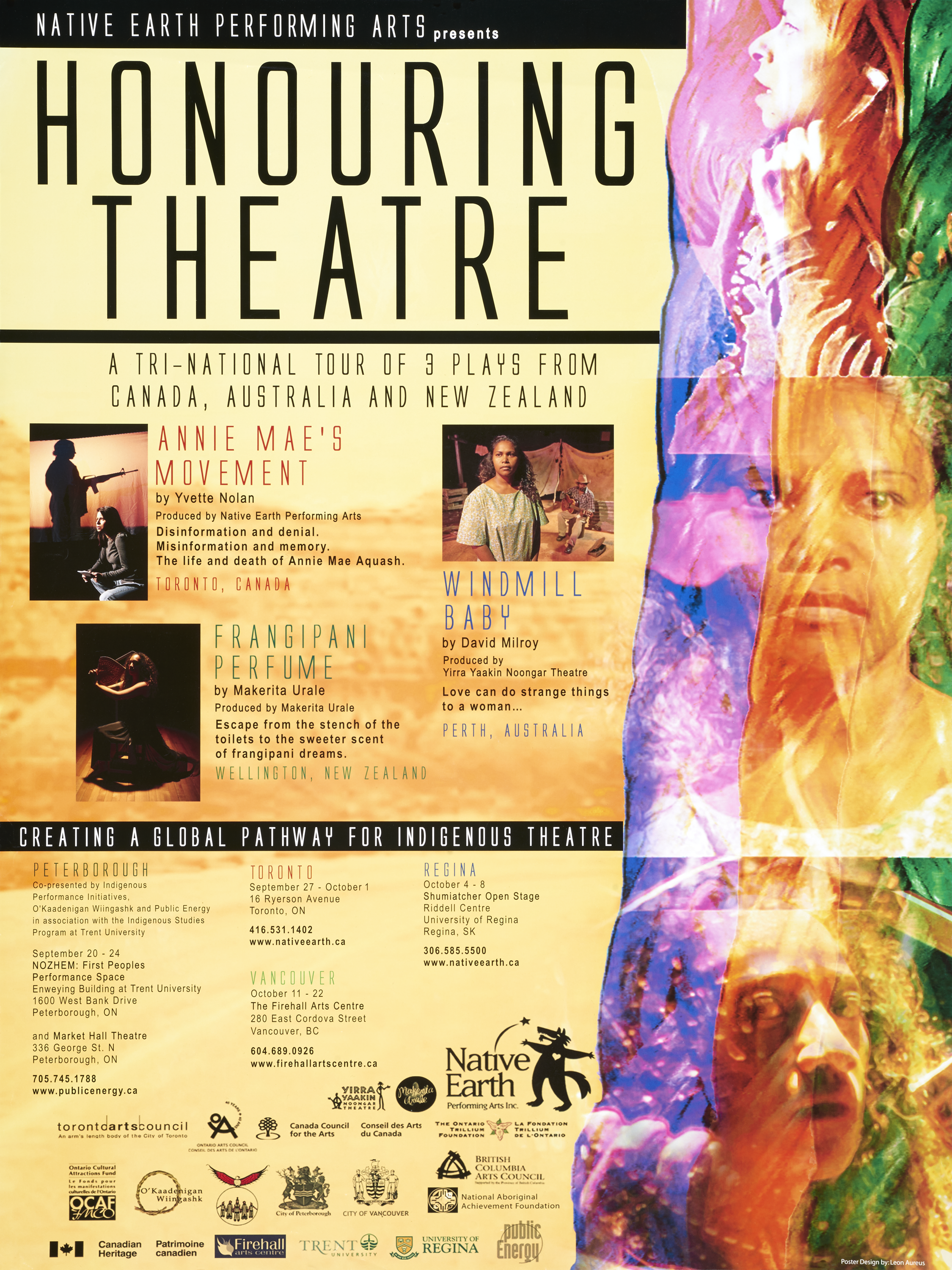 Poster for Honouring Theatre by Native Earth Performing Arts