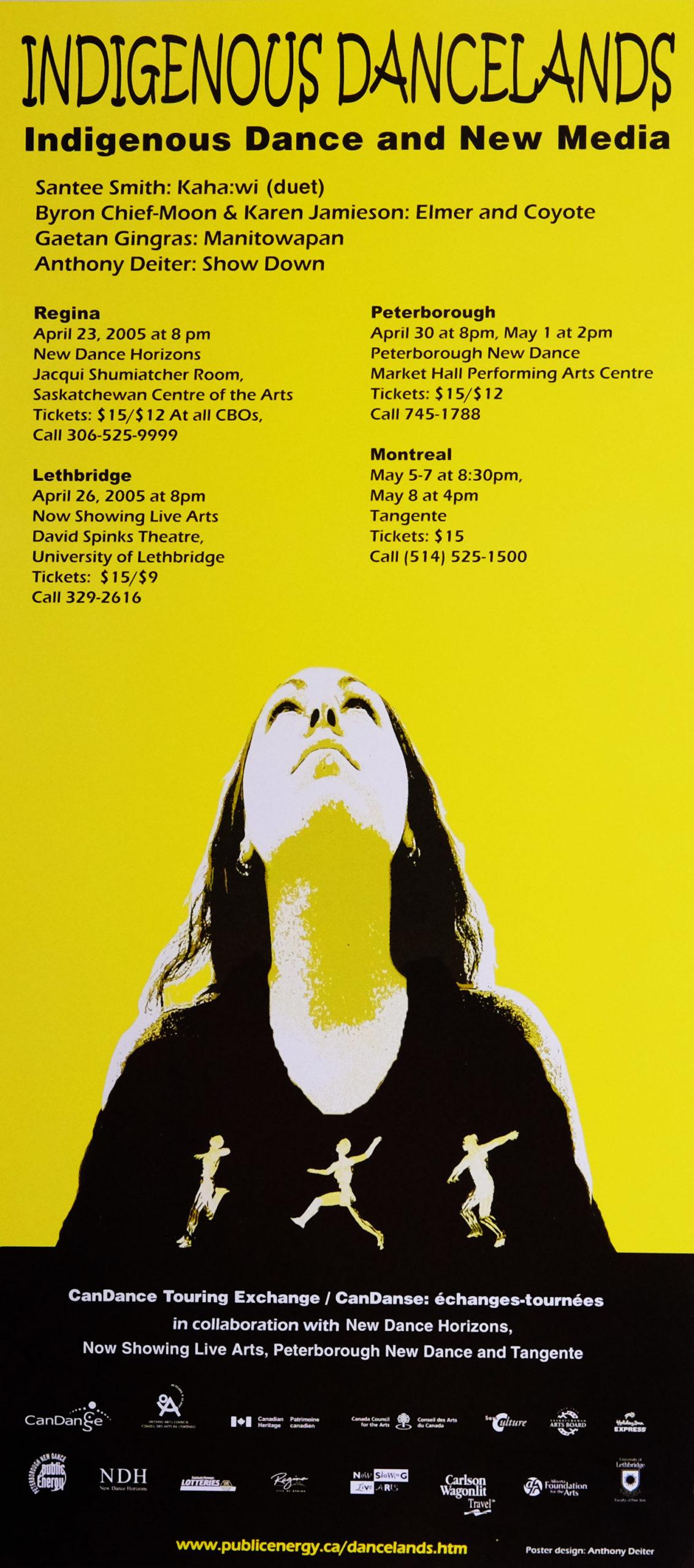 Poster for Indigenous Dancelands