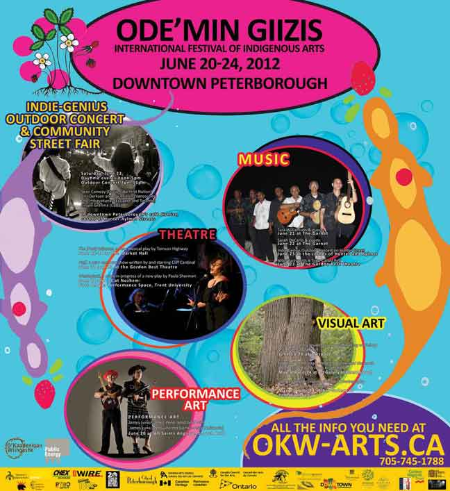 Ode'min Giizis Festival  in the photo.