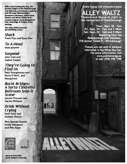 Alley Waltz: Theatre and Dance at night in the backalleys of Peterborough