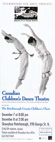 Canadian Children's Dance Theatre -Wintersong With the Peterborough County Children's Choir