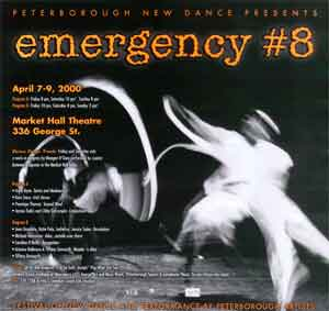 Emergency #8 – Festival of new dance and performance by Peterborough-based artists
