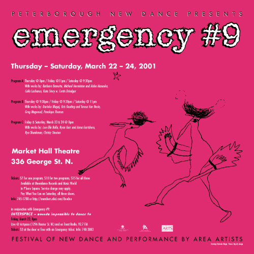 Emergency #9 – Festival of new dance and performance by Peterborough-based artists  in the photo.