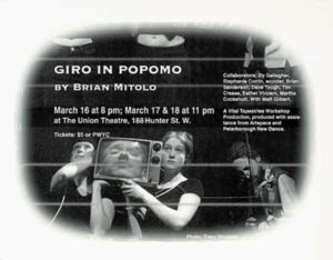 Poster for Giro in Popomo: a Vital Tapestries Workshop Production
