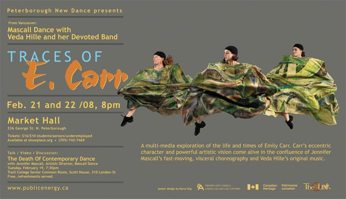 Mascall Dance with Veda Hille and her Band – Traces of E. Carr  in the photo.