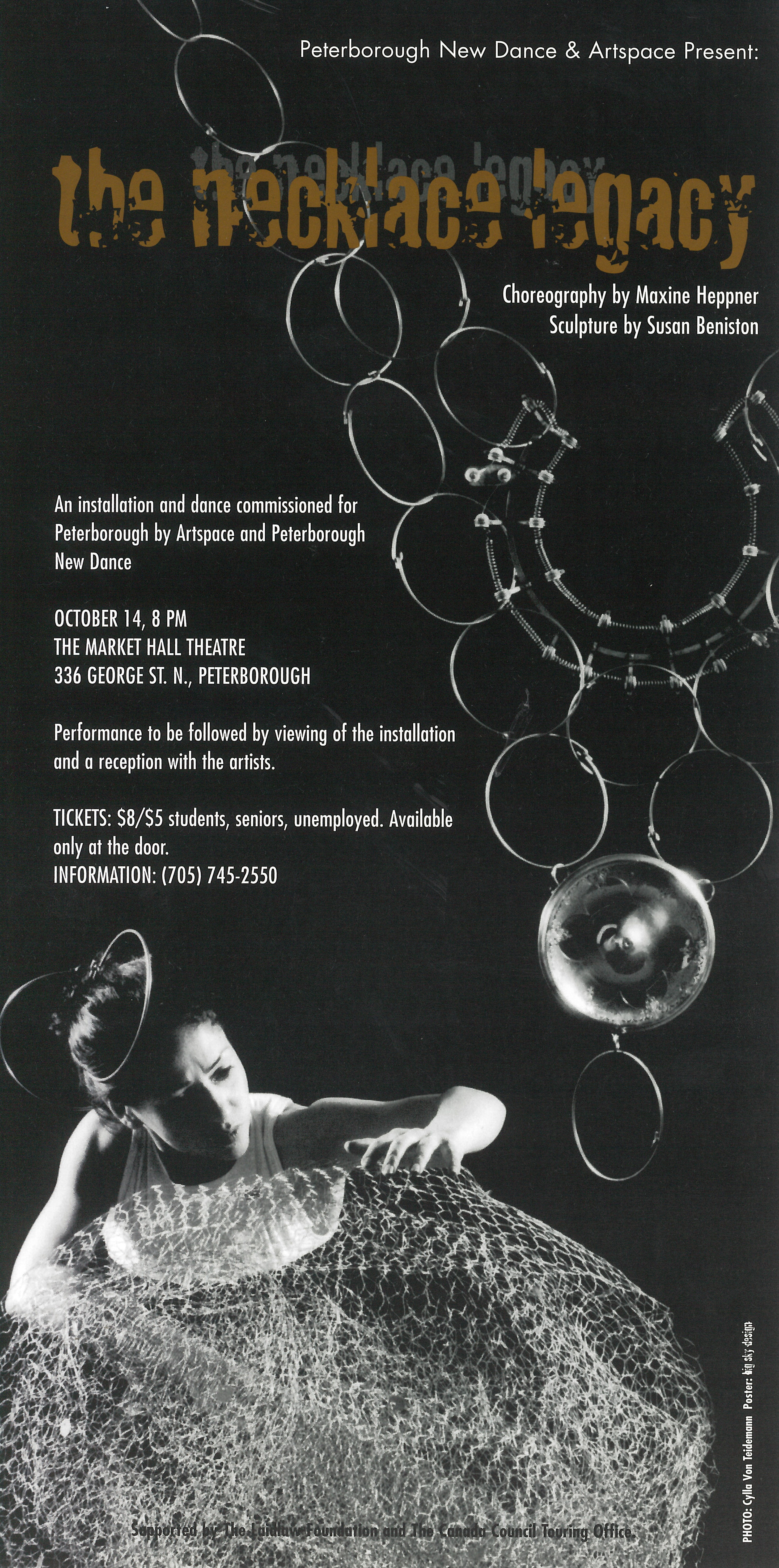 The Necklace Legacy Poster for The Necklace Legacy: A woman in a fancy dress grabs at a dangling necklace in the photo.