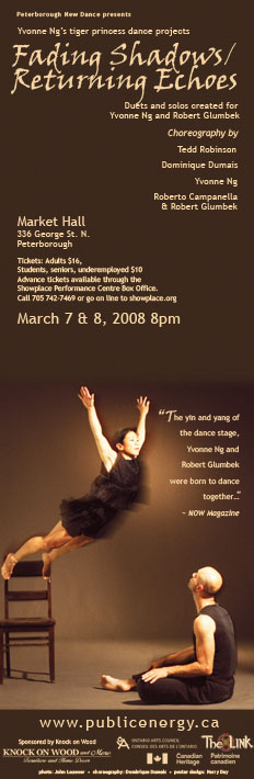 Yvonne Ng's tiger princess dance projects – Fading Shadows-Returning Echoes  in the photo.