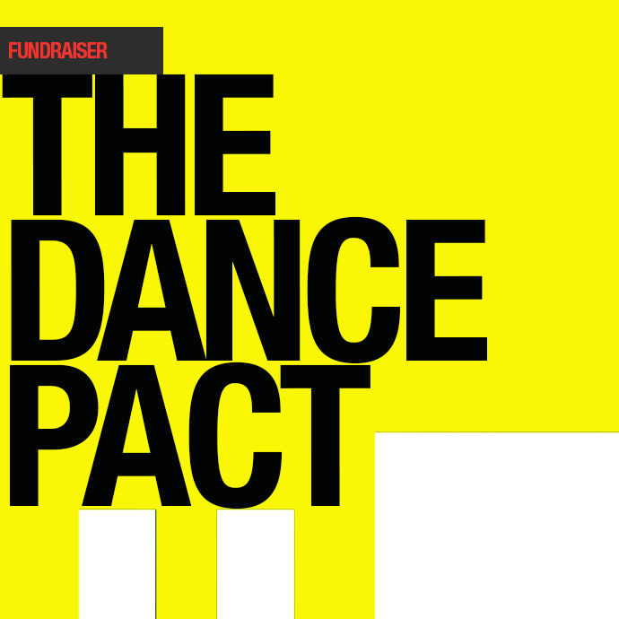 The Dance Pact The Dance Pact written in bold letters on a yellow background in the photo.