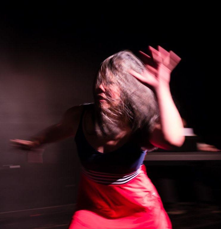 Nadine Changfoot dancing quickly.