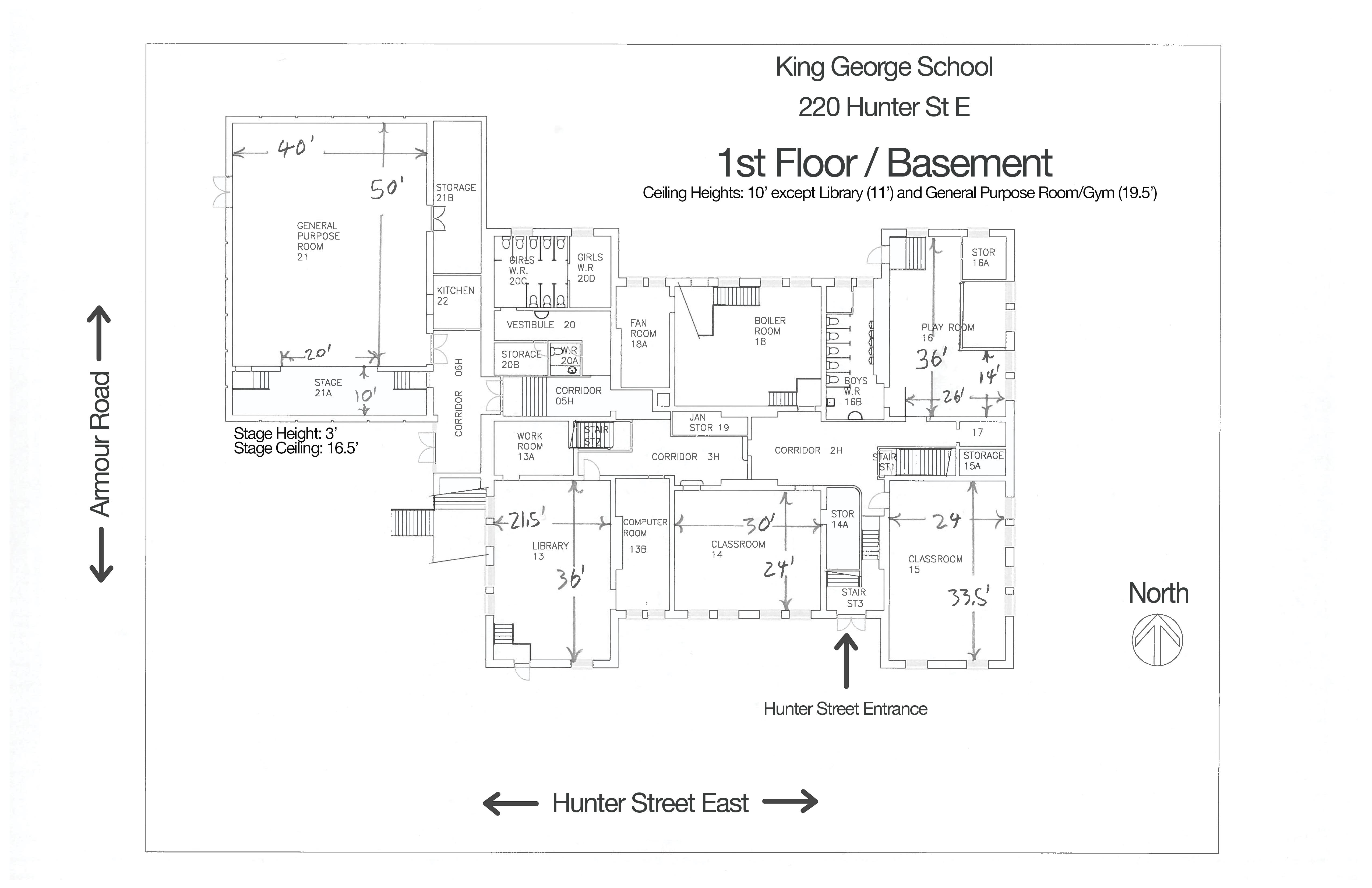 King George First Floor Basement Floorplan