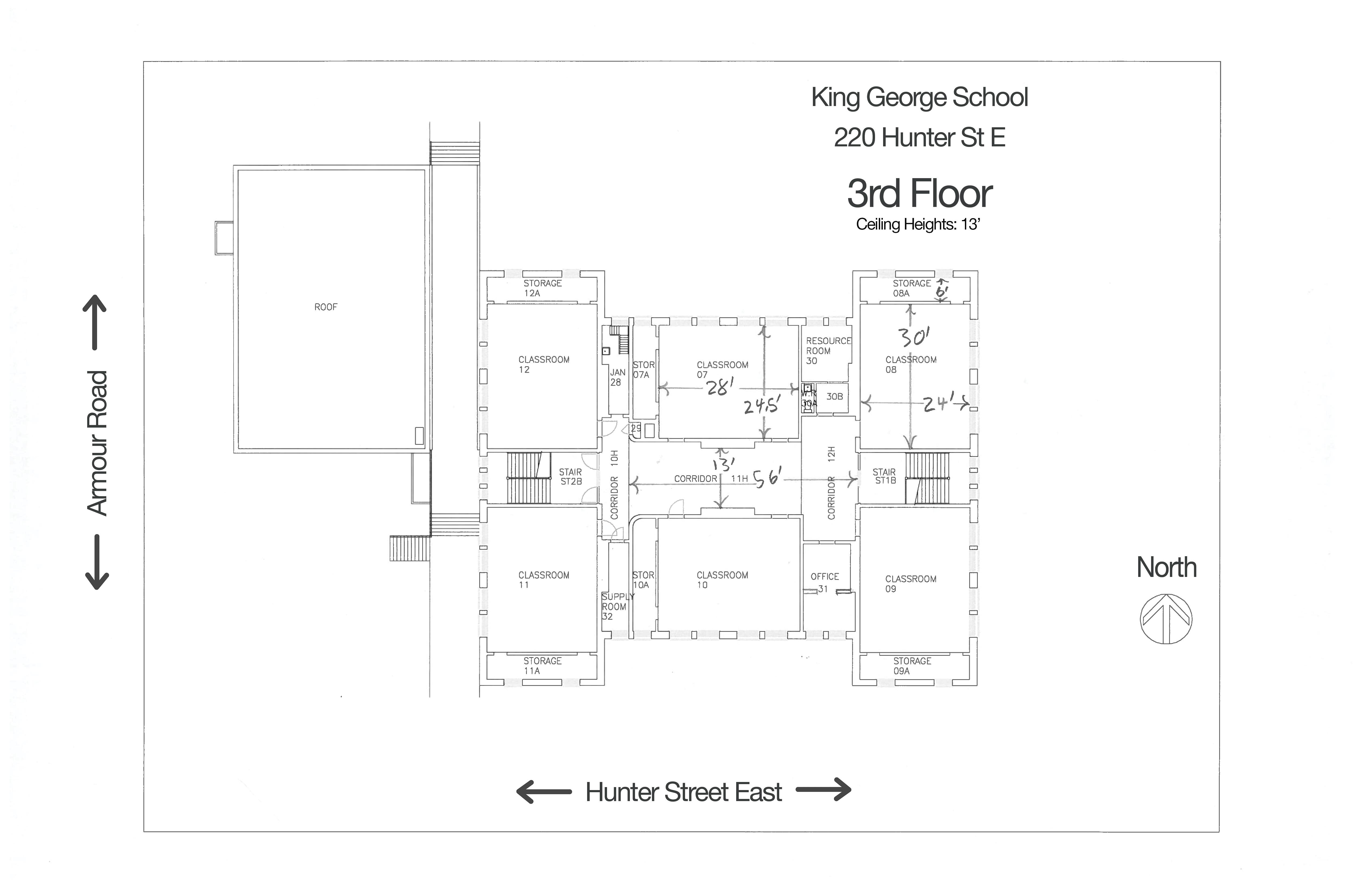 King George Third Floor Floorplan