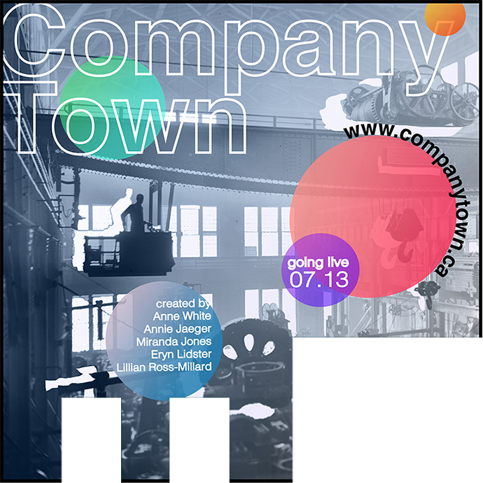 Company Town Poster by Lillian Ross-Millard in the photo.