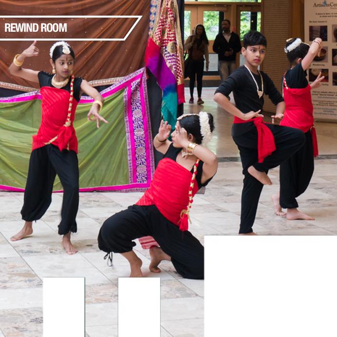Ukti dancers in Peterborough Square.