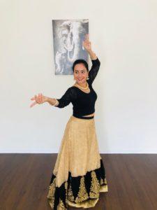 photo of MithilaBallal dancing