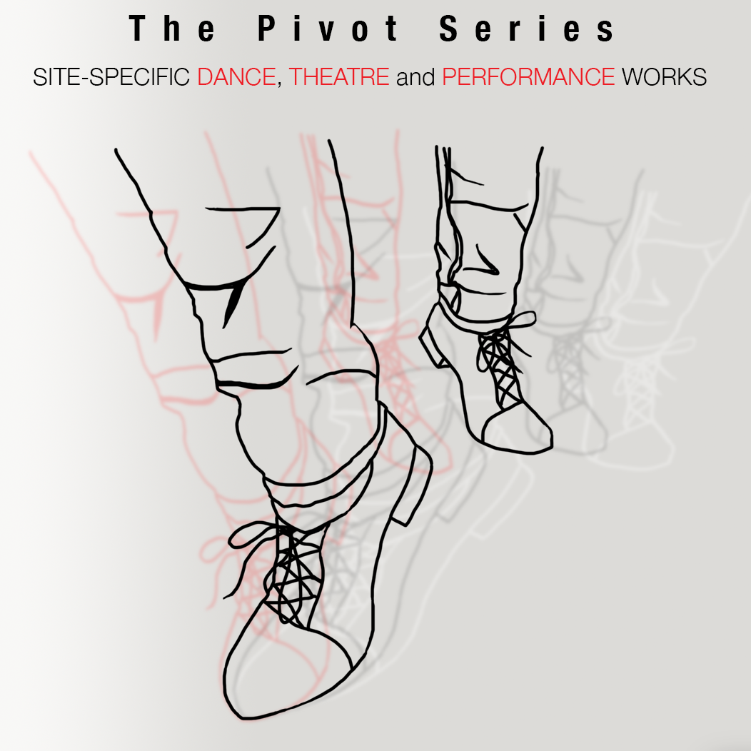 The Pivot Series Drawing a feet pivoting in the photo.