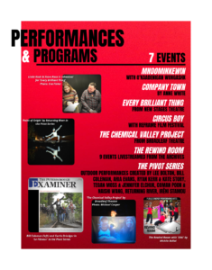 Performances and Programs page from Wrapping up 2020