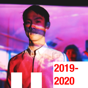 An actor in Chemical Valler. Text: 2019-2020.