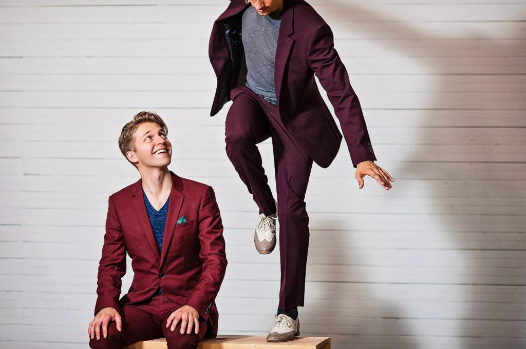 Nic Gareiss and Caleb Teicher dancing