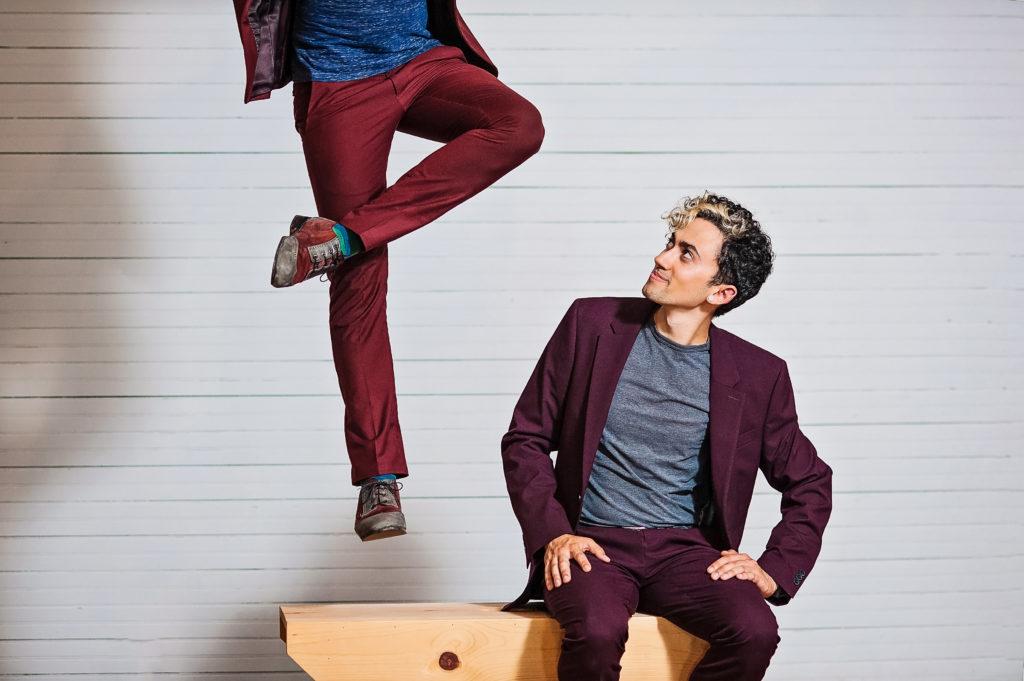 Dancers Nic Gareiss and Caleb Teicher